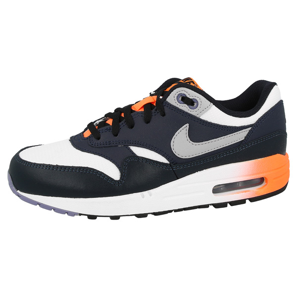Nike-Air-Max-1-GS-Shoes-Trainers-White-Dark-Blue-555766-106-Ltd-Bw-Classic-90