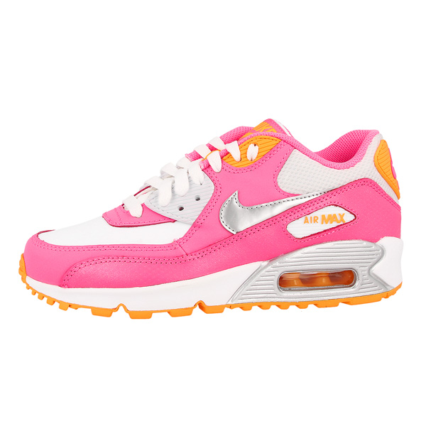 Nike-Air-Max-90-2007-GS-Shoes-Pink-Trainers-345017-120-LTD-BW-Classic-Skyline
