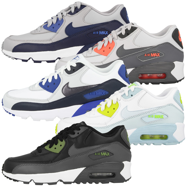 Nike Air Mujer Max 90 Leather GS Mujer Air zapatos casuales zapatillas Command Flex BW Classic 37f57d